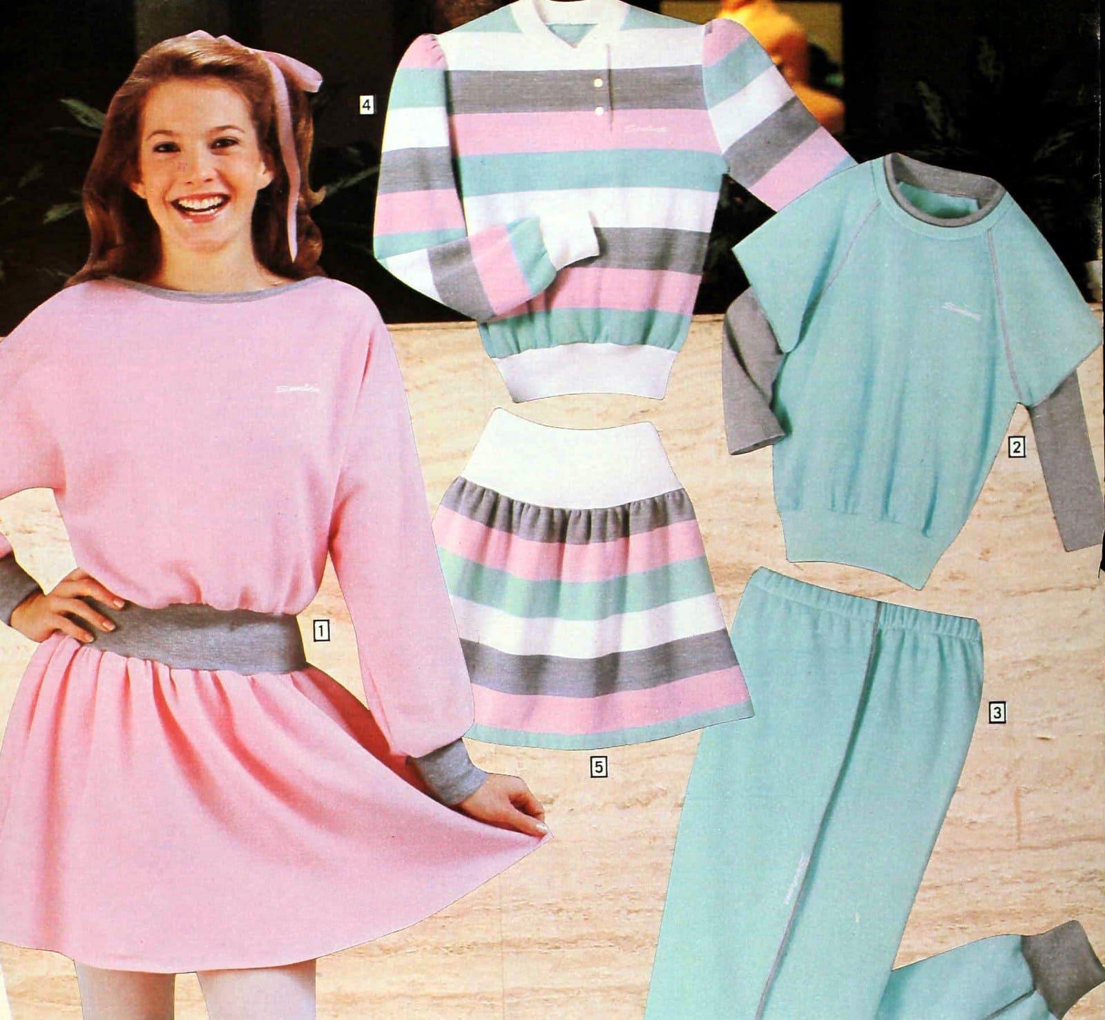 Drop-waist skirts and dresses - Sears 1983