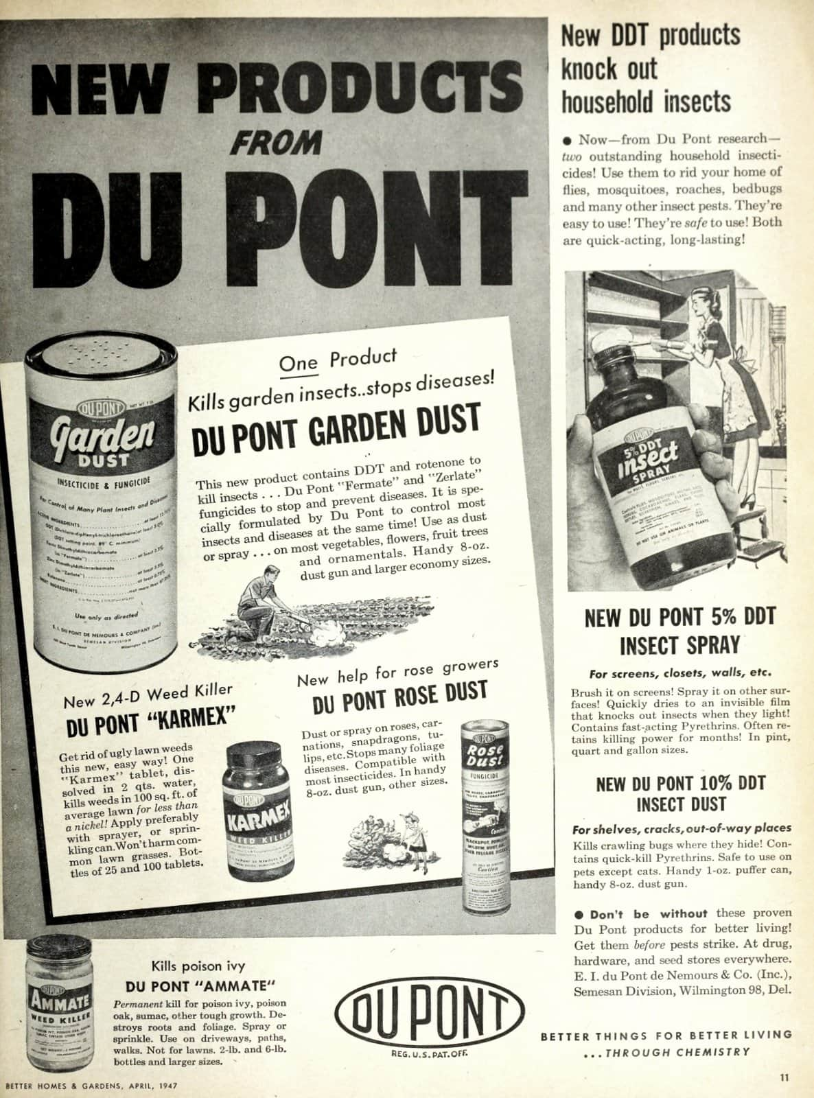 Vintage DDT products knock out household insects (1947)