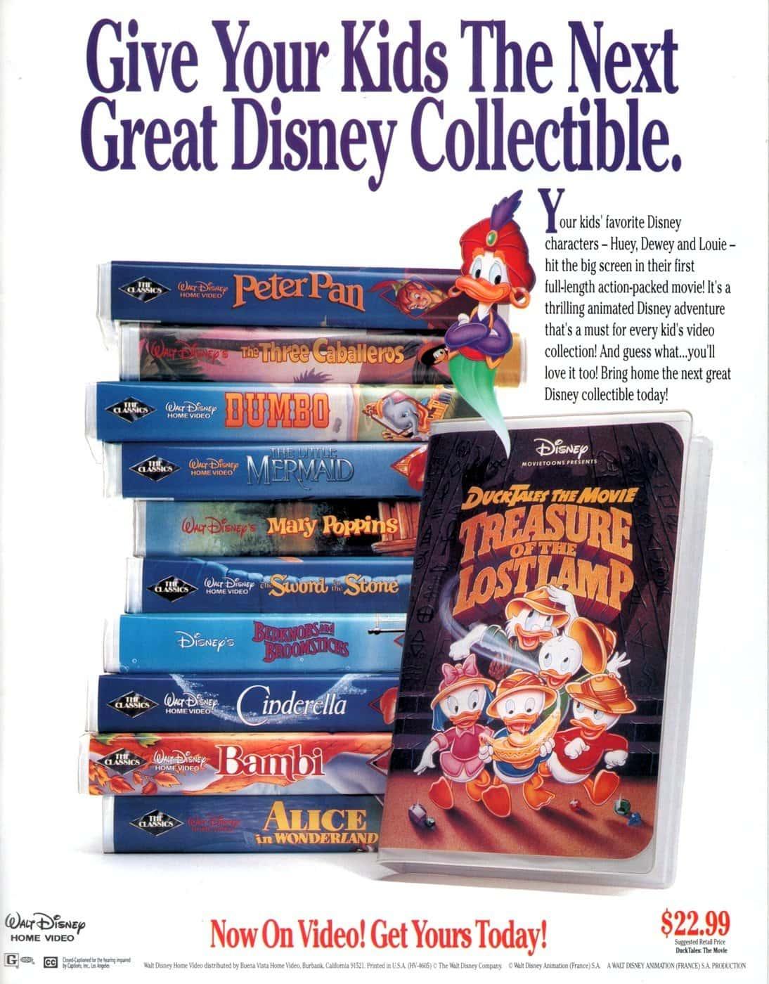 Ducktales -- Walt Disney Home Video (1991)