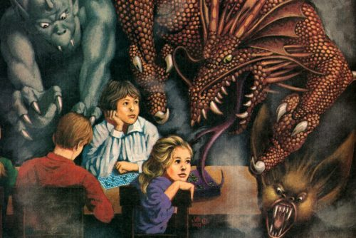 Dungeons and Dragons vintage game