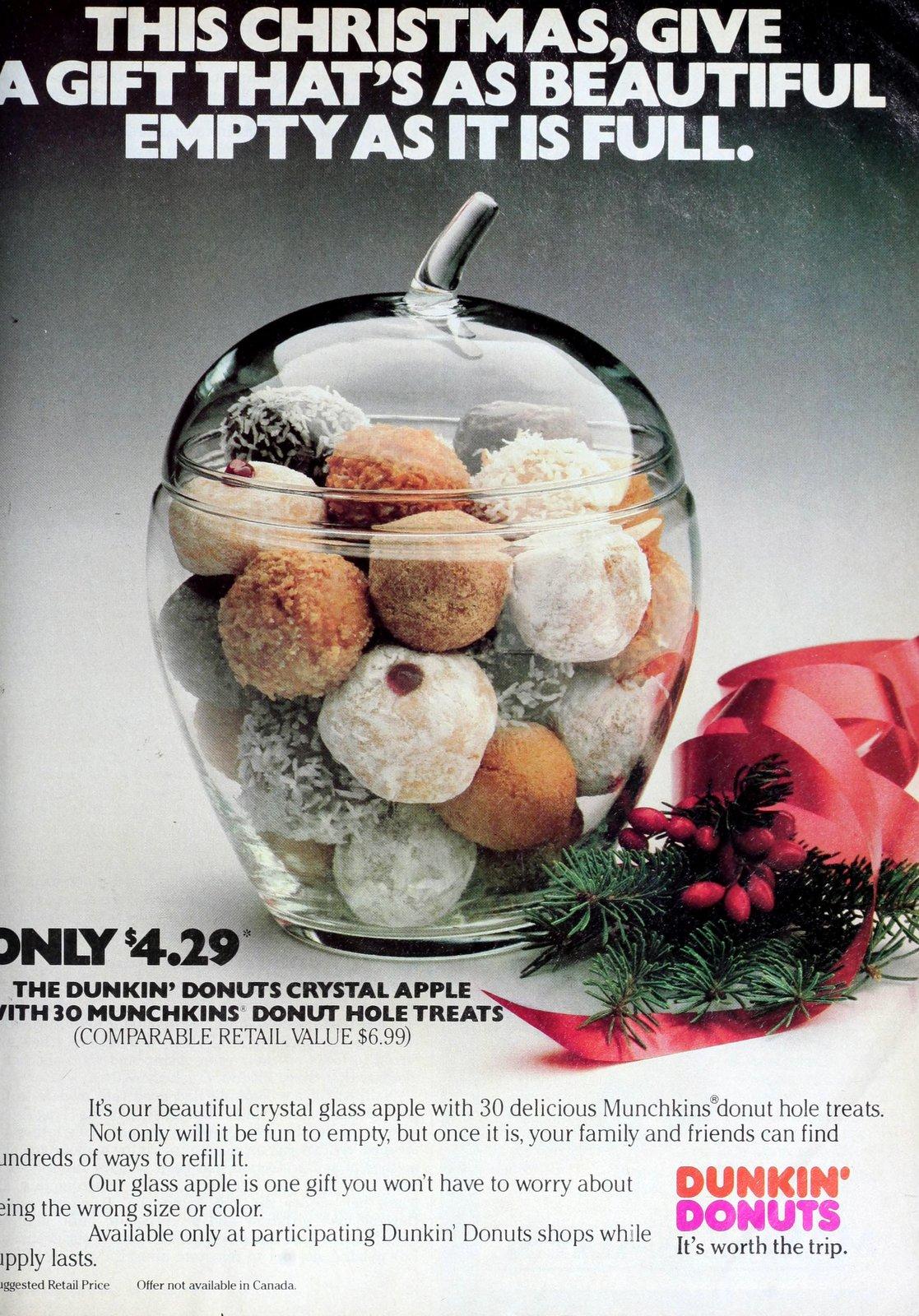 Dunkin Donuts crystal apple jar