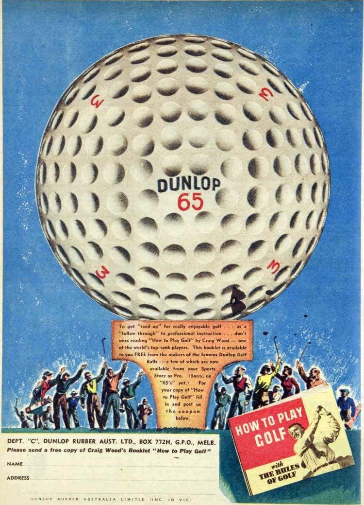 Dunlop 65 golf balls 1946
