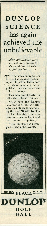 Dunlop golf balls - 1927