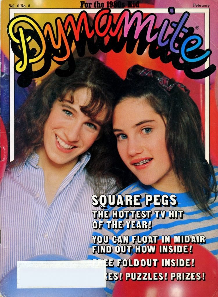 Dynamite Magazine cover - Square Pegs TV show with Sarah Jessica Parker