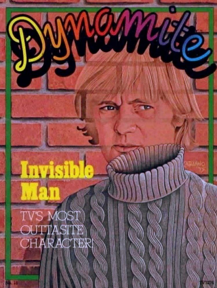 Dynamite magazine December 1975 Invisible Man - David McCallum