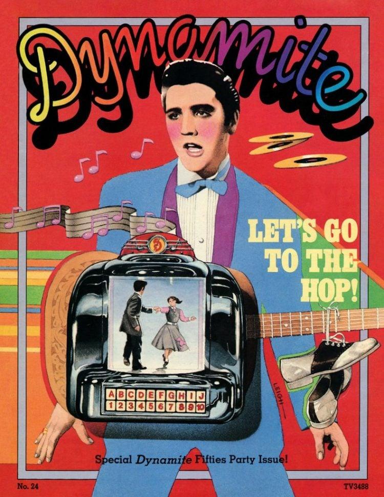Dynamite magazine cover - Elvis