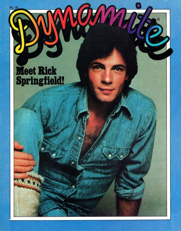 Dynamite magazine cover - Rick Springfield