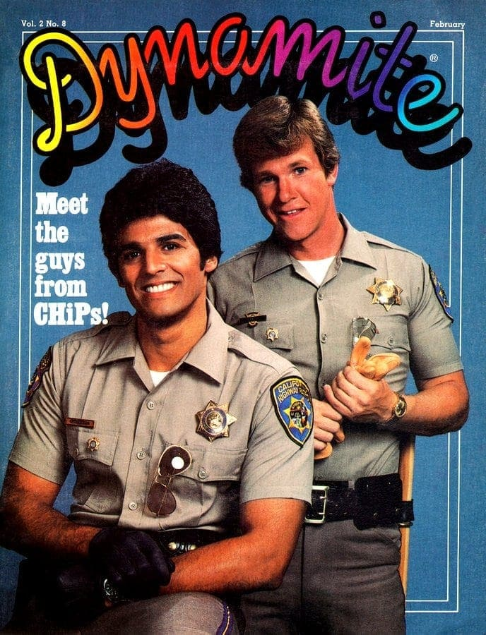 Dynamite magazine cover with CHIPS TV show