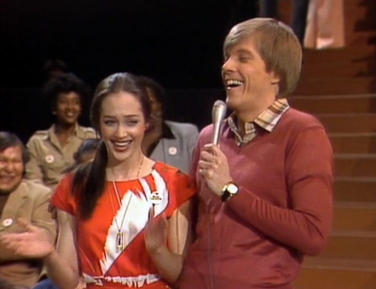 ET's pregnant sister's name joke from vintage Real People TV show