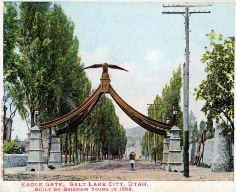 Eagle Gate - Salt Lake City c1900