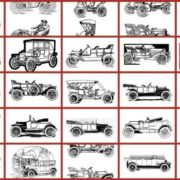 Early American Automobiles - Classic car coloring book thumbnails (2)