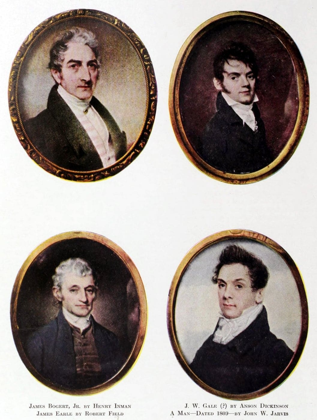 Early American miniature portraits Antiques (1)