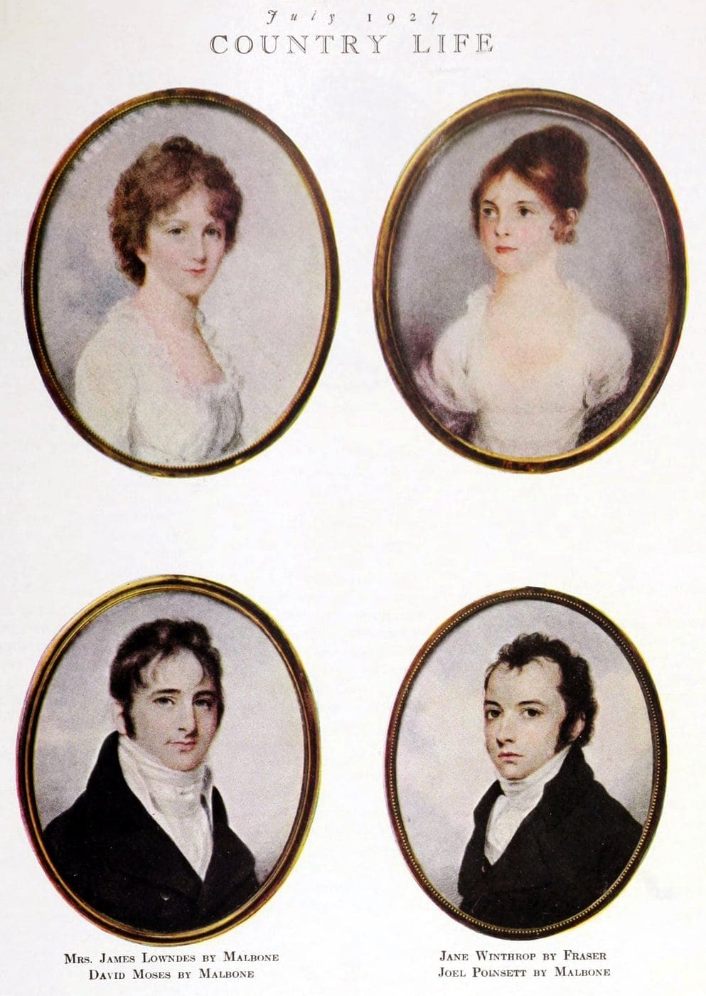 Early American portrait miniatures Antiques
