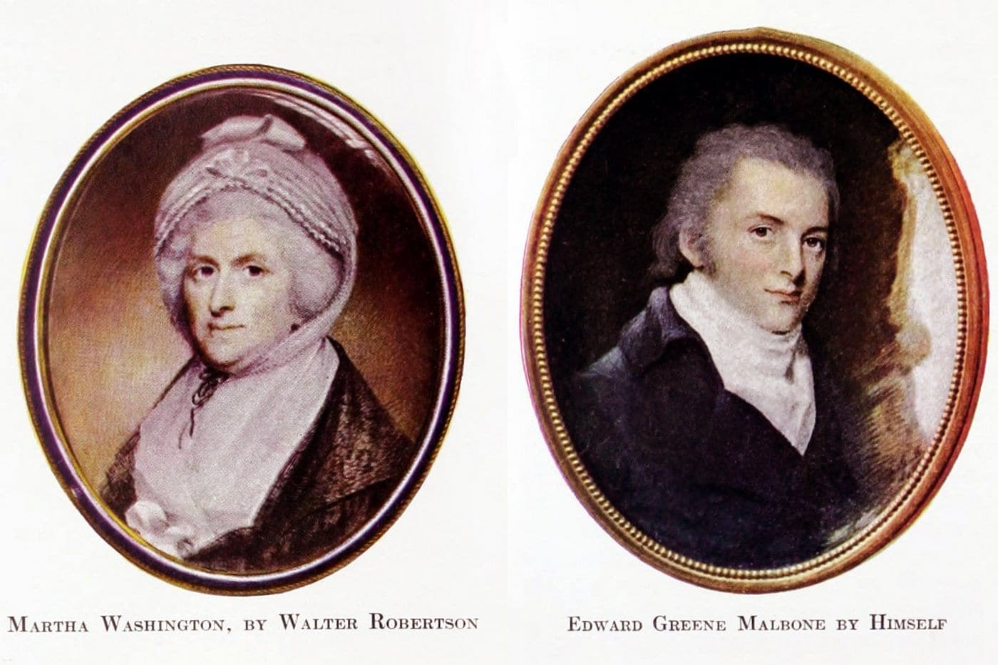 Early American miniature portraits Antiques (3)