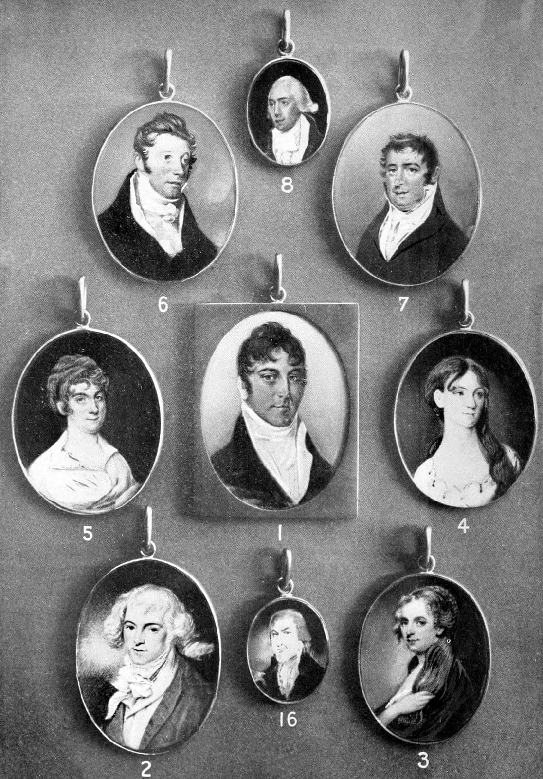 Early American portrait miniatures by William Dunlap 1820s (1)