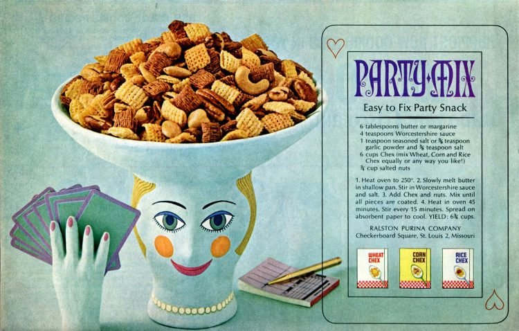 Early original Chex party mix recipe from 1963
