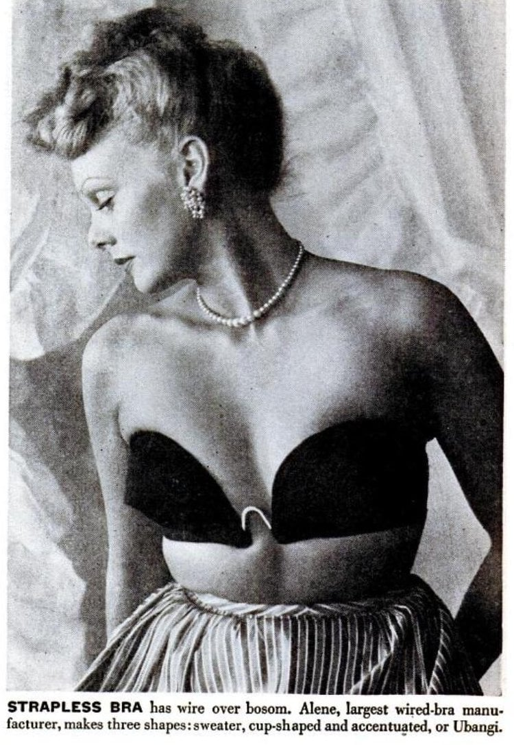 Early strapless bras from 1946