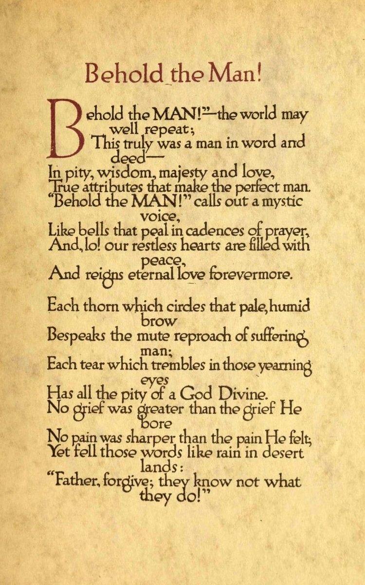 Behold the Man! An Easter prayer