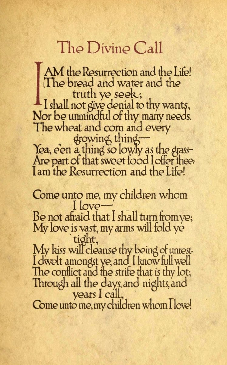 The Divine Call - Easter poem