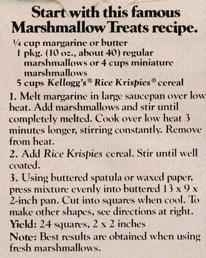 Easter Rice Krispies treats Bunnies, eggs & more (1982)