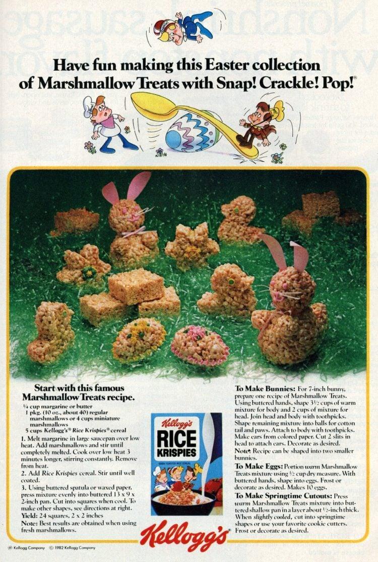 Easter Rice Krispies treats Bunnies, eggs more ideas 1982 (2)