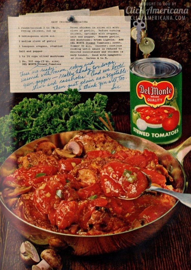 Easy Chicken Cacciatora (1962)