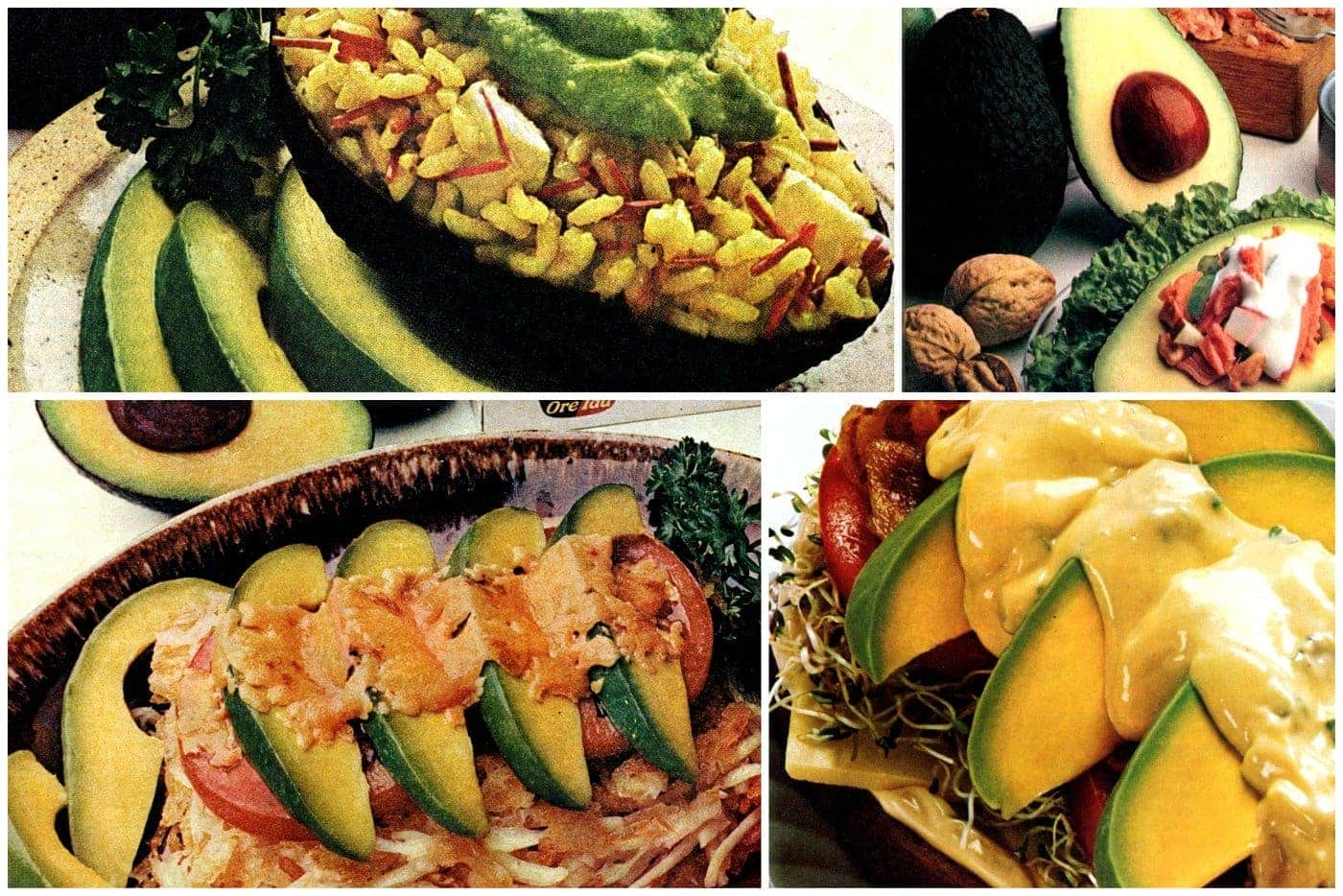 Easy avocado recipes from the 1970s and 1980s