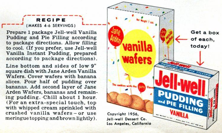 Easy banana pudding recipe from 1956