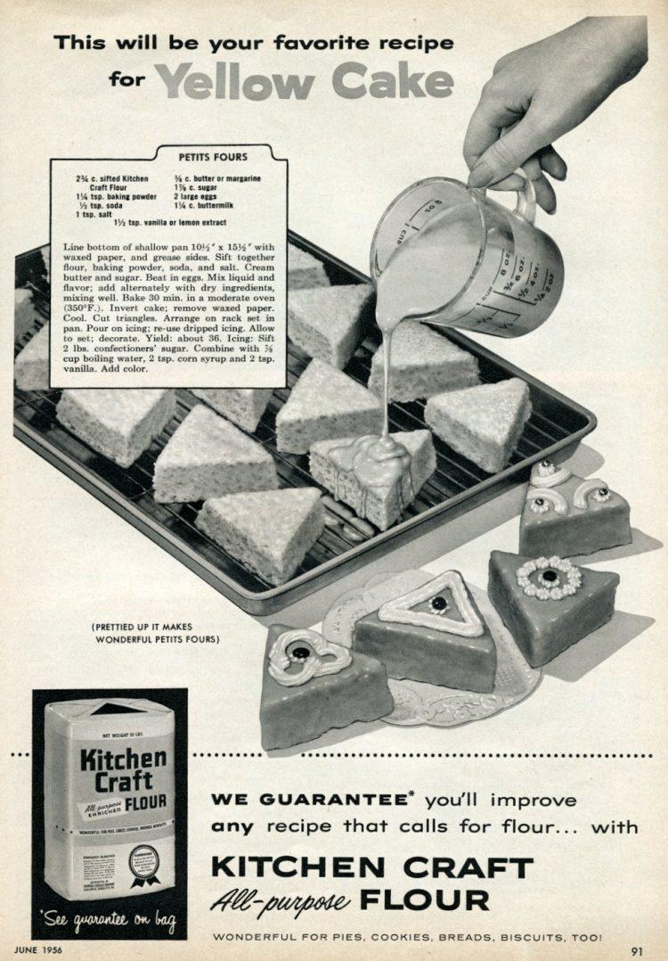 Easy basic petits fours recipe (1956)
