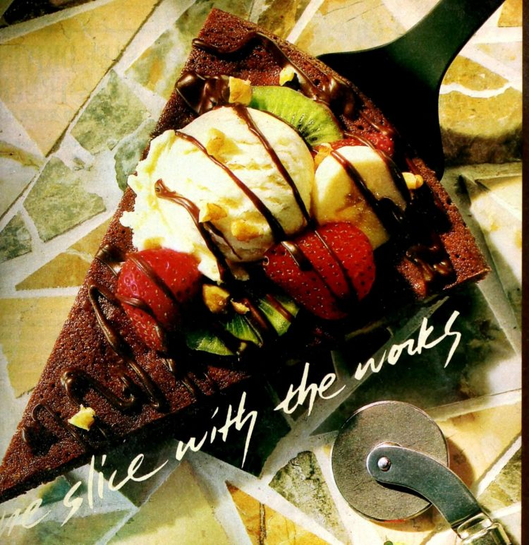 Easy brownie pizza retro recipe (1989)