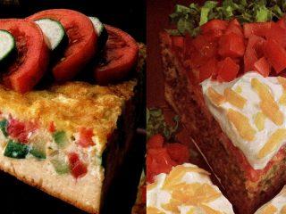 Easy dinner ideas Impossible zucchini-tomato pie - taco pie recipes (1982)