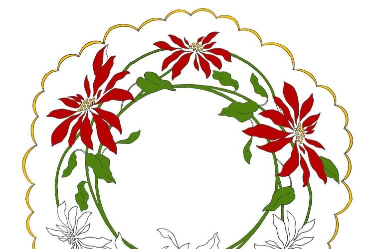 Easy embroidered Christmas gifts antique patterns