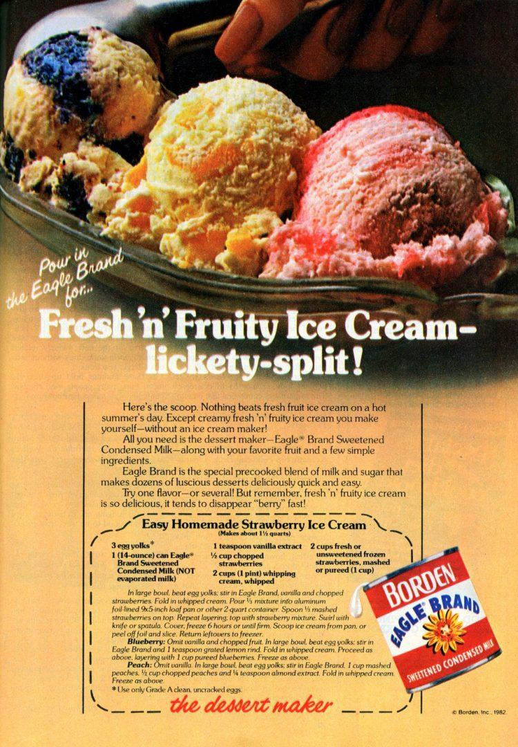 Easy homemade strawberry ice cream retro recipe 1980s (2)