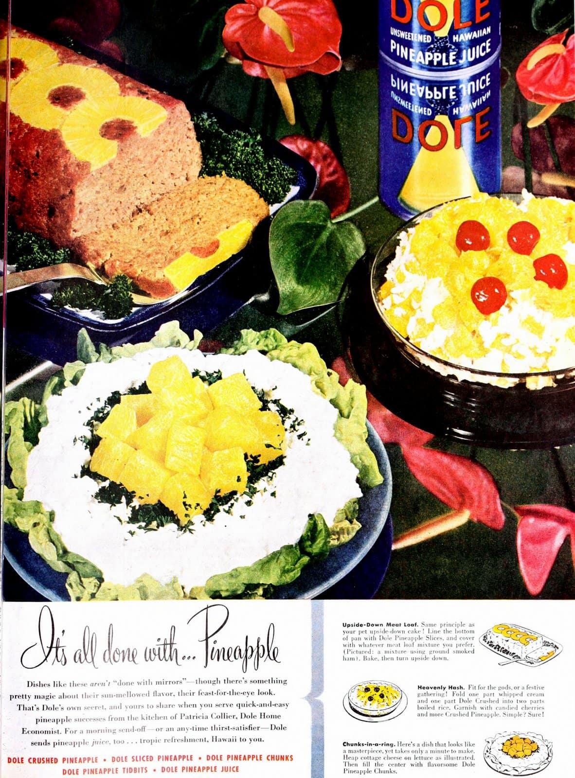 Easy pineapple recipes (1947)