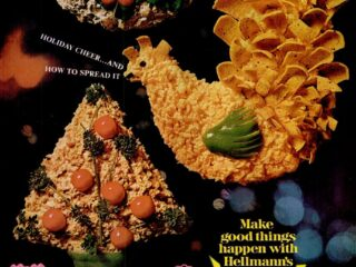 It's retro appetizer time! Get these Cheddar-sherry, ham & cream cheese spread recipes (1968)