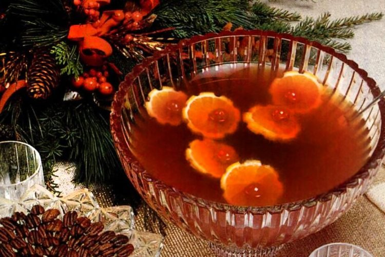 Hot cranberry punch - Christmas recipe
