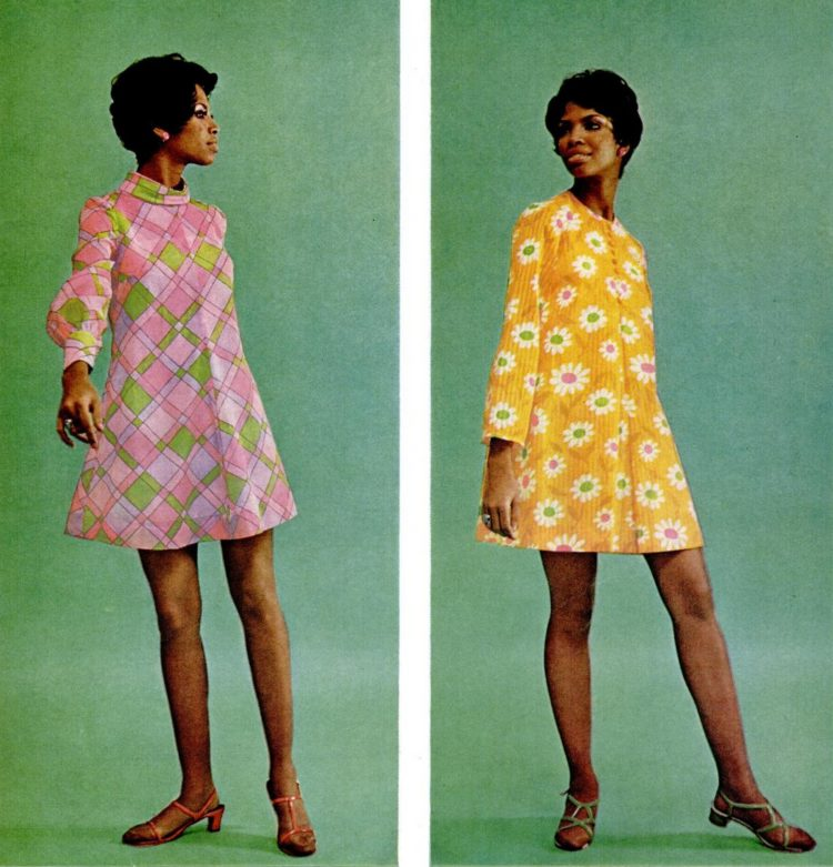Ebony Feb 1968 Mini dresses - beauty fashion