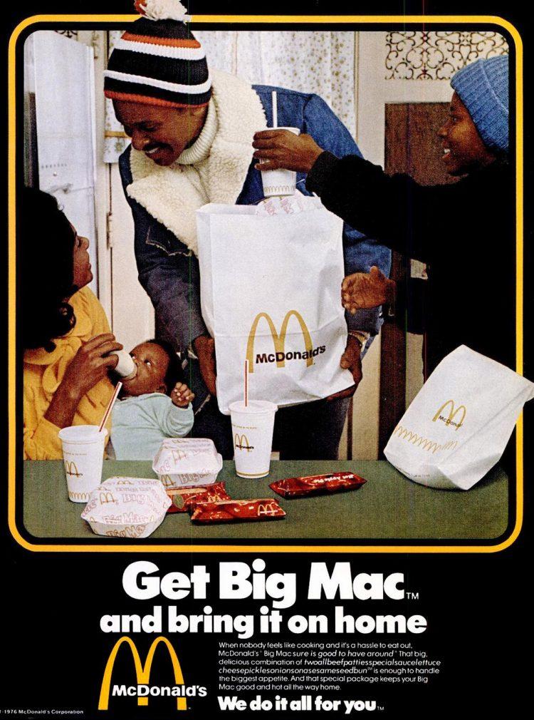 Ebony Feb 1976 Big Mac - McDonalds