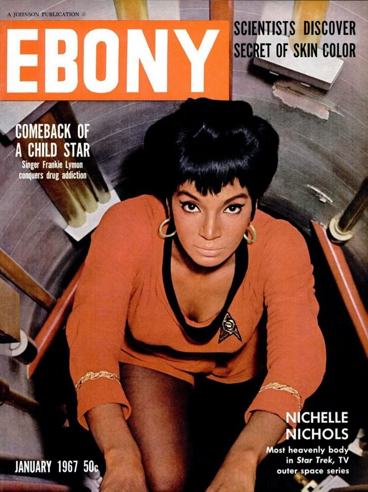 Ebony Jan 1967 Nichelle Nichols cover