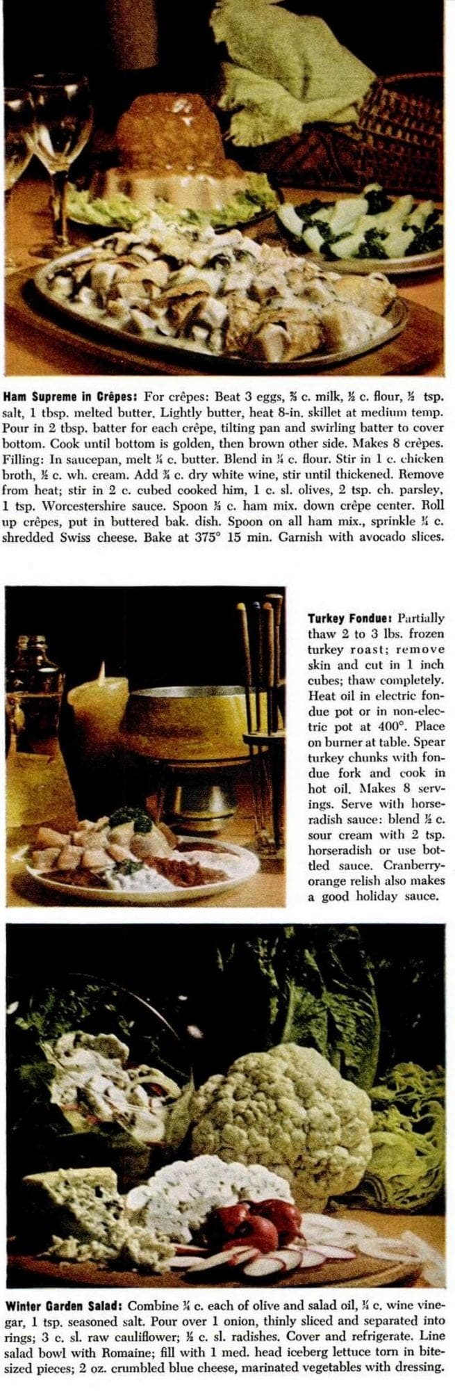 Thanksgiving recipes from 1974