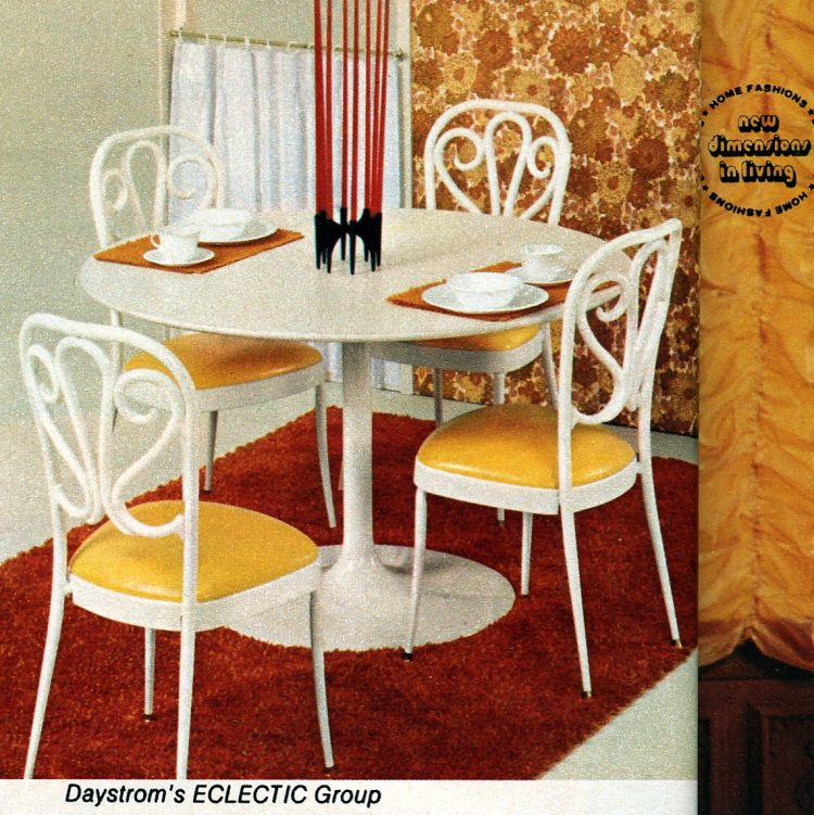 Eclectic yellow and white dinette from Daystrom (1972)
