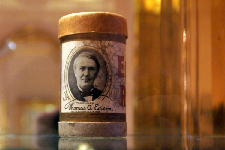 Edison wax cylinder for vintage phonograph