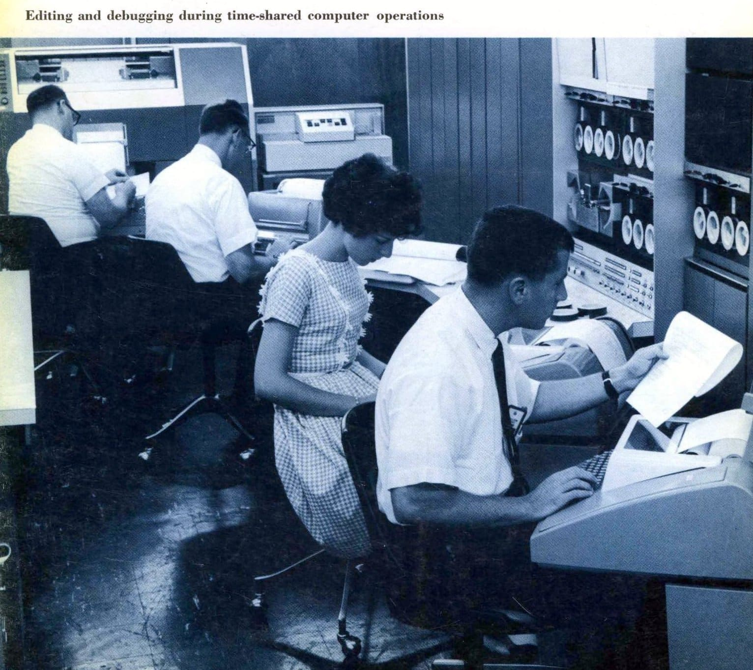 Editing and debugging timeshared computer operations (1965)