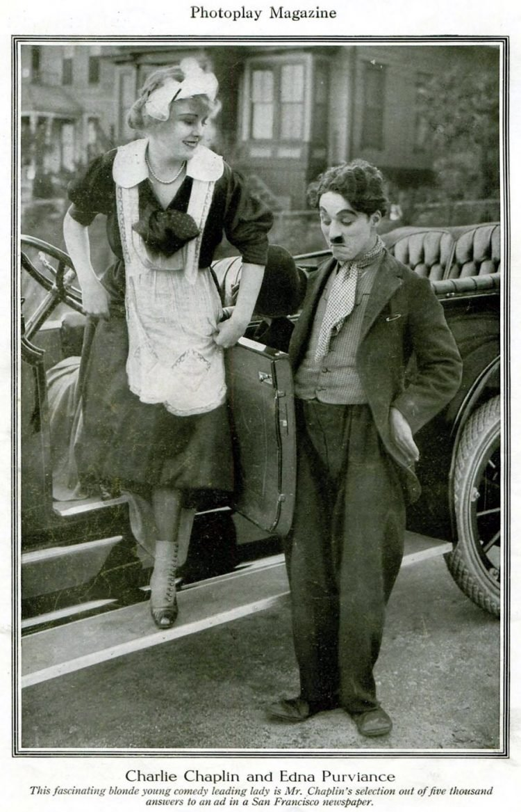 Edna Purviance and Charles Chaplin
