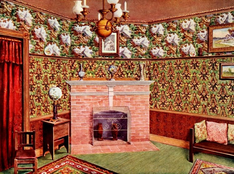 Edwardian home decor ideas with wallpaper and furniture (2)