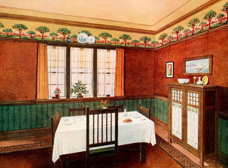 Edwardian home decor ideas with wallpaper and furniture (4)