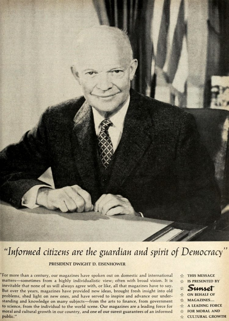 Eisenhower on magazines 1960 Sunset
