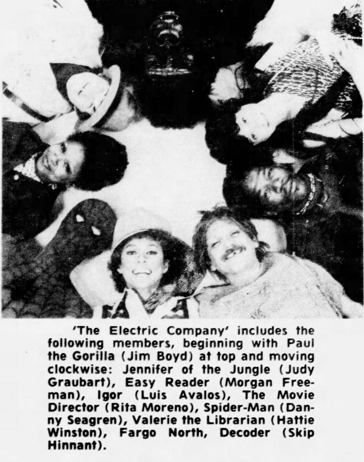 Electric Company TV show cast in 1976