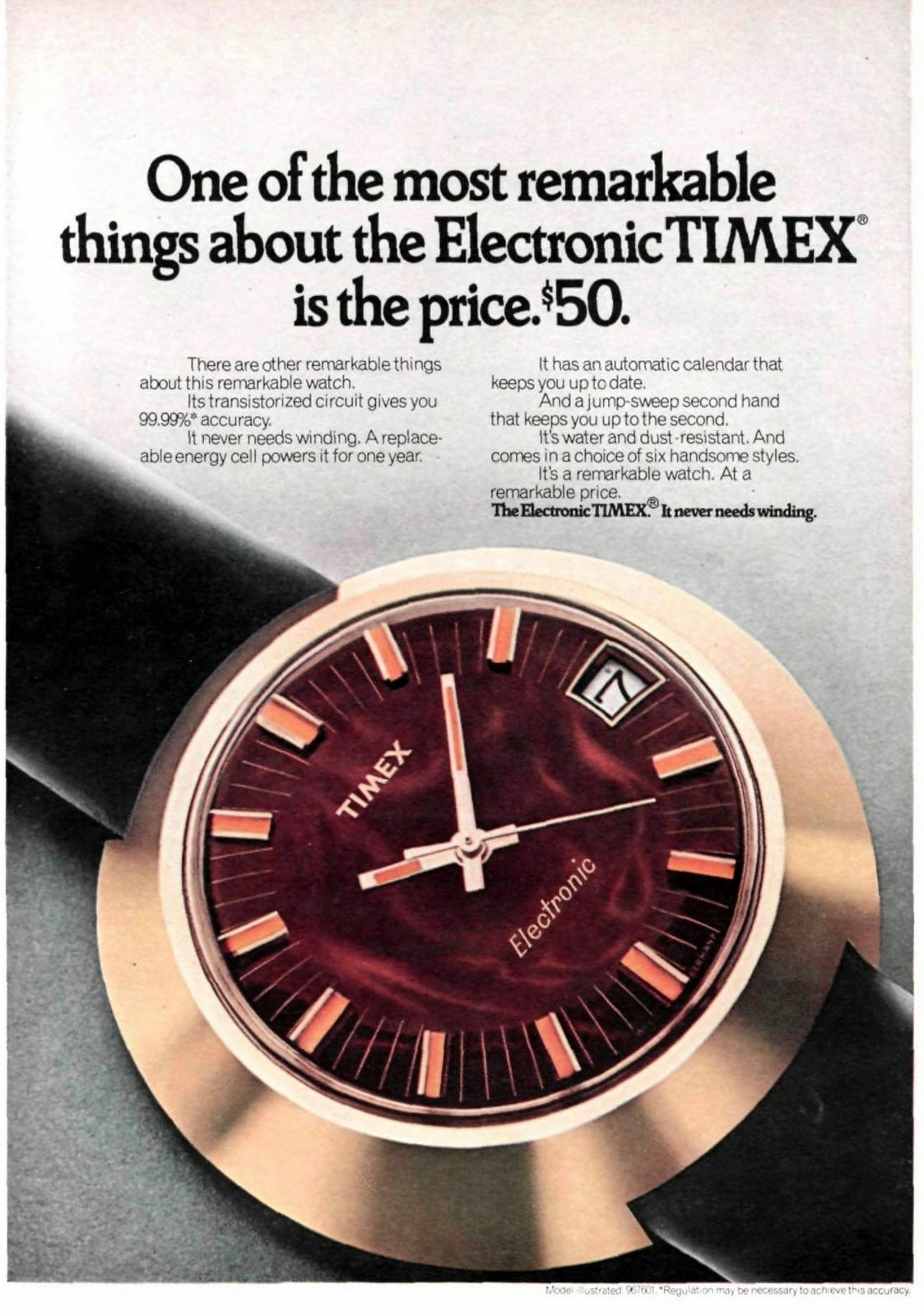 Electronic Timex watch (1971)