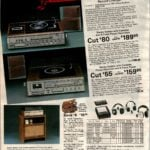 Compact stereo systems from the '80s with cassette, 8-track, radio and automatic record changer